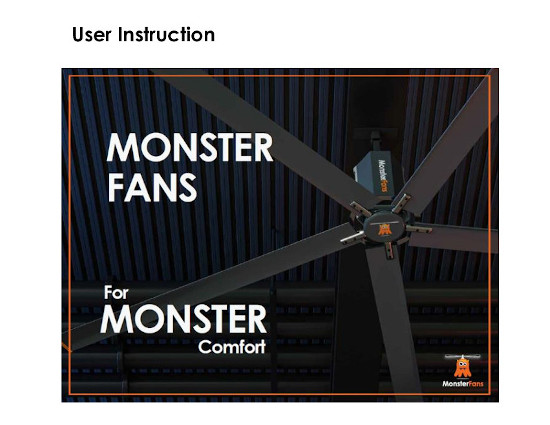Key Visual of the User Instruction of MonsterFans, HVLS-Fans.